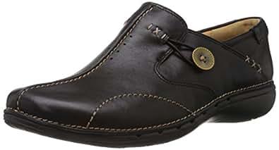 [クラークス] Clarks スリッポン Un Loop 20312837 Black Leather (ブラックレザー/UK 3.5)
