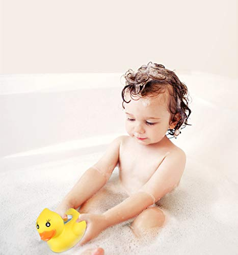 BabyElf Bath Thermometer - Baby Water Thermometer, Digital Room Thermometer, Floating for Bathtub and Swimming Pool, Yellow Duck