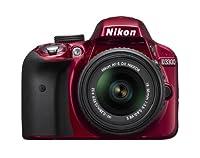 Nikon D3300 24.2 MP CMOS Digital SLR with AF-S DX NIKKOR 18-55mm f/3.5-5.6G VR II Zoom Lens (Red)