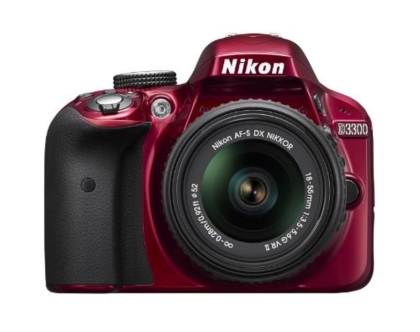 コーンウォールカレッジ着陸Nikon D3300 24.2 MP CMOS Digital SLR with AF-S DX NIKKOR 18-55mm f/3.5-5.6G VR II Zoom Lens (Red)