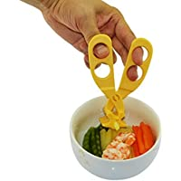 Baby Food Scissors Cutter Masher Chopper Multifunctional Food Cut Kids Feeding Helper Kitchen Shears (yellow) [並行輸入品]