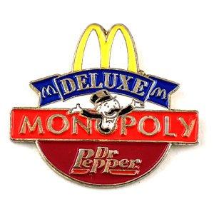 限定 レア ピンバッジ モノポリー板ボードゲームMマクドナルド飲物ドクターペッパー ピンズ フランス
