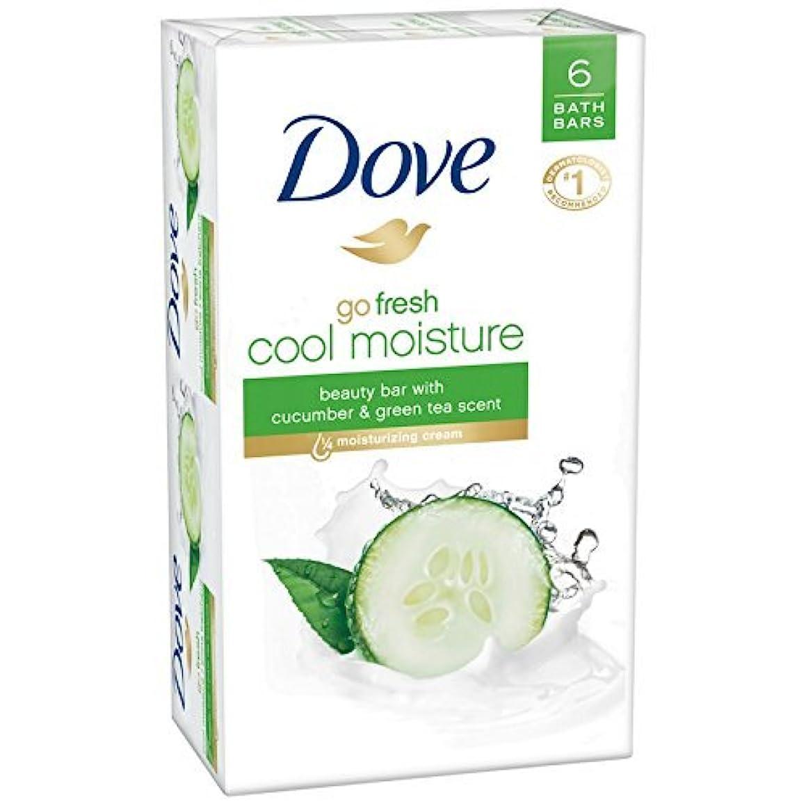 意志に反するアルバニー未使用Dove 新鮮な美しさバーを行く - クールモイスチャー - 4オズ - 6のCtを - 2 Pkを 4オンス6 CT 2 PK キュウリと緑茶
