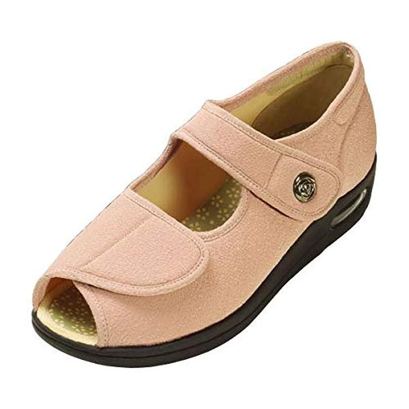 私打ち上げる漏斗マリアンヌ製靴 彩彩~ちりめん~ W1103 婦人用 /26.0cm さくら