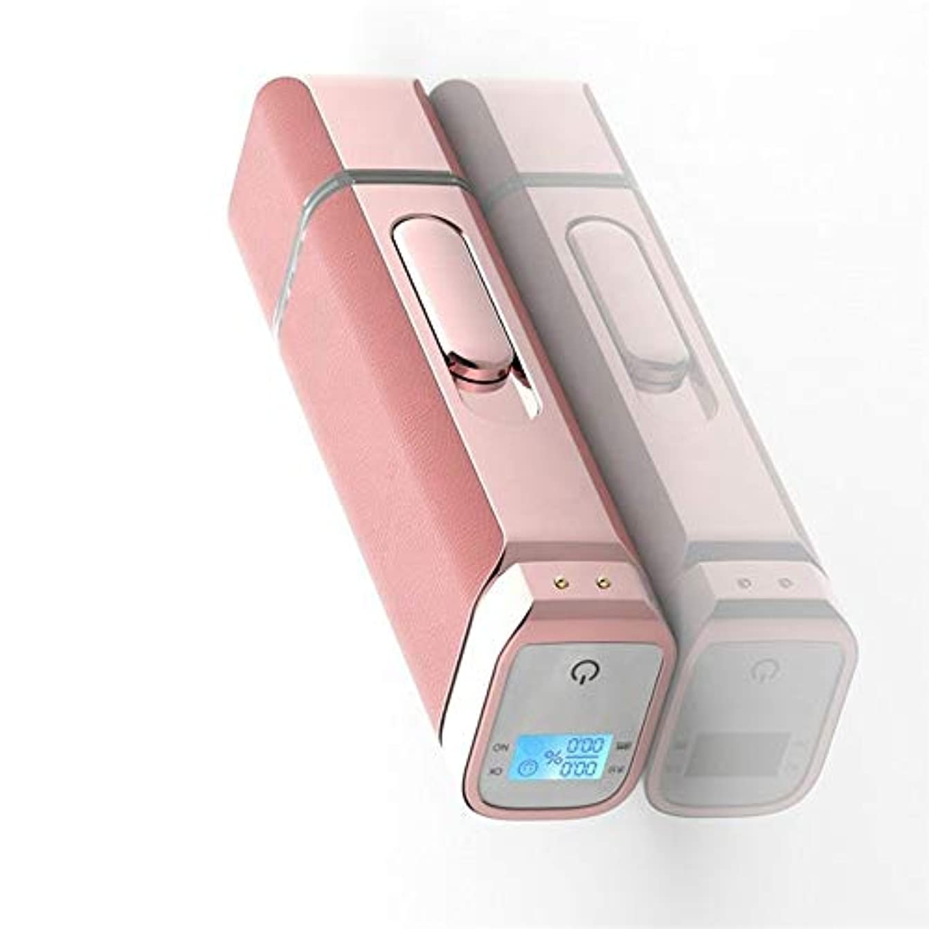 引退した水を飲む形式肌の水分テスターと顔のナノミスト噴霧器、アトマイゼーションフェイススチーマーディープモイスチャライジングブラックヘッドアクネスージングサロン用フェイシャルポータブルフェイシャルスプレー (Color : ピンク)