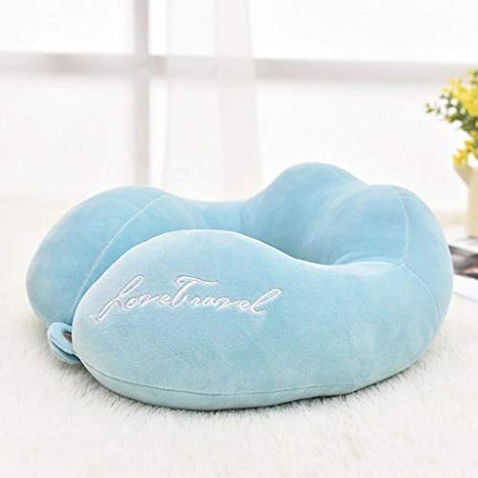 合唱団コア上向きDYHOZZ U字型メモリ枕、トラベルネックピロー、調節可能なネックサポートピロー、マルチカラーオプション U字型の枕 (色 : A)