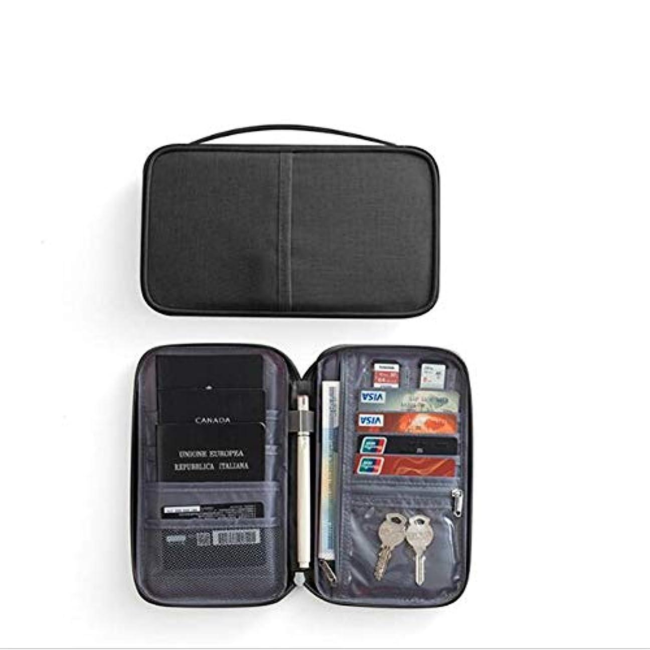 地殻大学院弁護DishyKooker ポータブルパスポートパッケージ チケットホルダー 多機能防水ドキュメンテーションバッグ