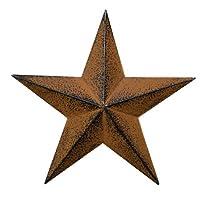 CWI Gifts バーンスター 壁飾り 錆び/ブラック 3.5-inch G570735ABA