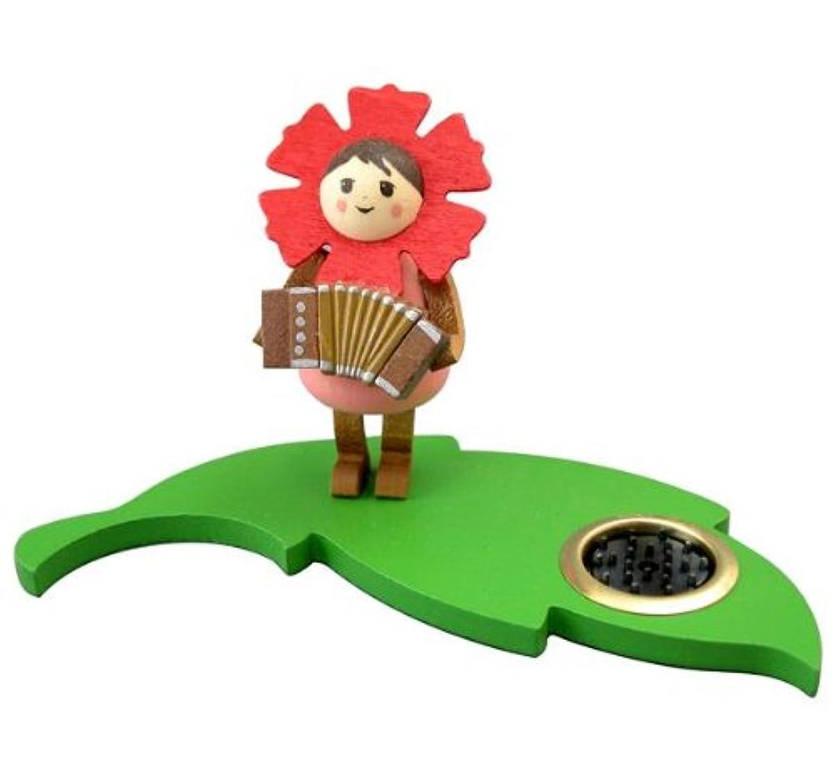 カップ決済資本インセンススタンド 花の妖精アコーディオン