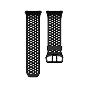 Ionic交換用スポーツバンド ブラック&チャコール(Black, Gray) Lサイズ 【国内正規品】 FB164SBBKL