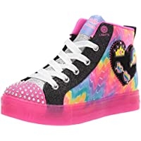 Skechers Shuffle Brights - Mix 'N Patch Girls Sneakers, Black/Multi