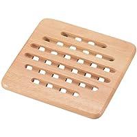 パール金属 木製 鍋敷き 角型 フレア H-3659