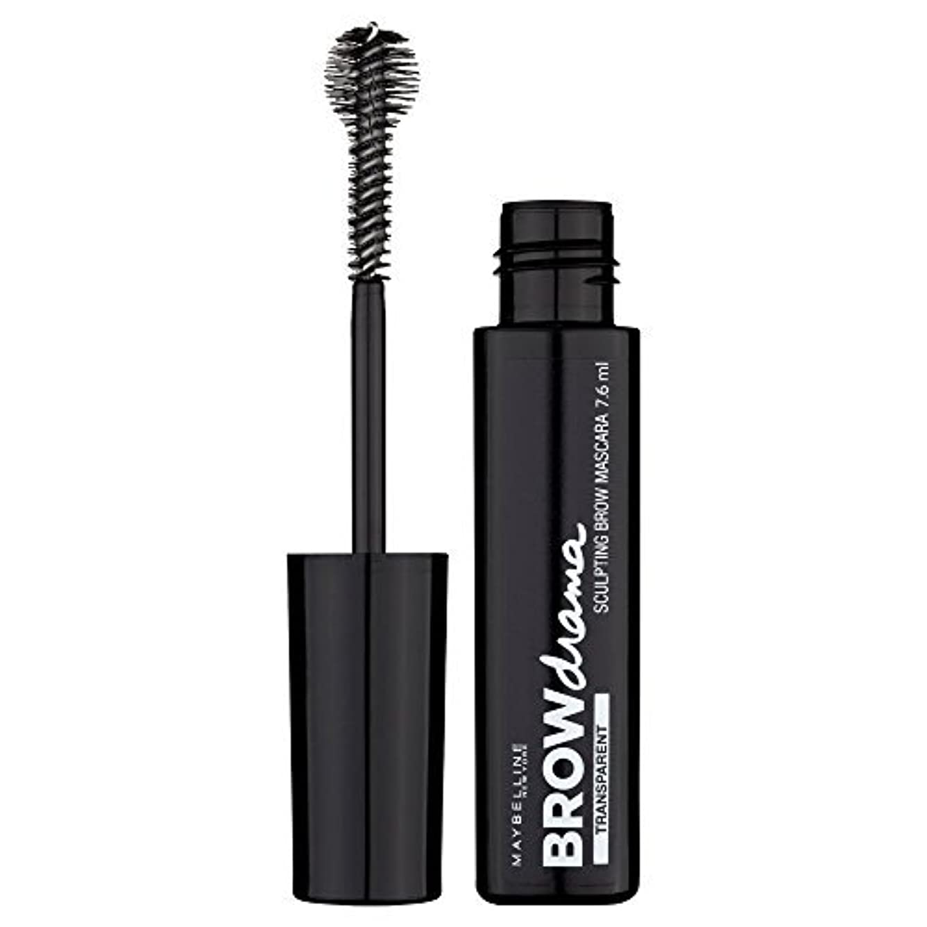 教義マインド一杯Maybelline Brow Drama Sculpting Brow Mascara Transparent 7.6ml by Maybelline