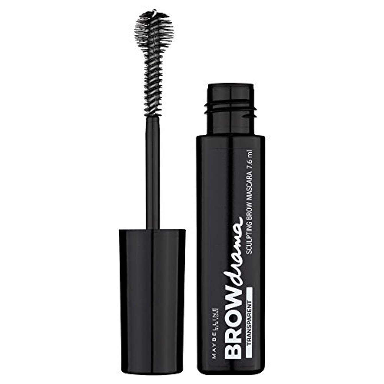 アラート定期的コカインMaybelline Brow Drama Sculpting Brow Mascara Transparent 7.6ml by Maybelline