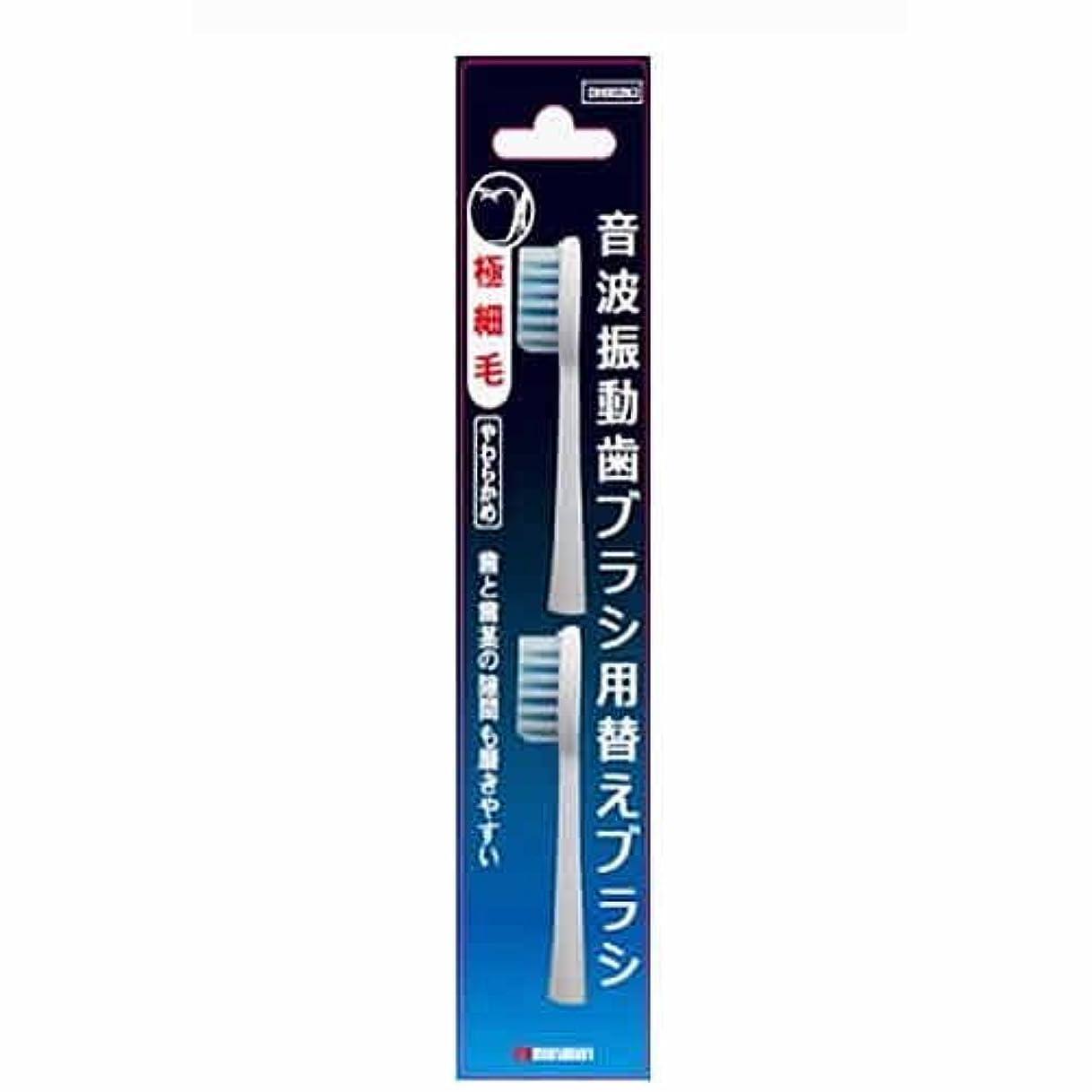 拡大する誇張スクリュー【まとめ買い】マルマン 電動歯ブラシ ミニモ/プロソニック1/プロソニック2/プロソニック3 対応 替えブラシ 極細毛 DK002N2 2本組 ×6個