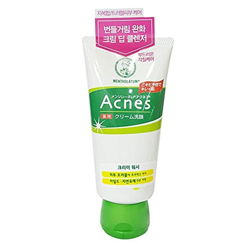 雇うジョリーストライプ[Acnes] アクネス クリーミー ウォッシュ Creamy Wash メイク落とし - Acne Break Face Cleanser, Balance Oil Control Foaming Cleansing...