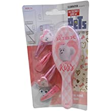 The Secret Life of Pets hairbrush & clips set pink girls at Risk kiss