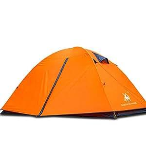 HUI LINGYANG アウトドア テント 2-3人用 ツーリングテント 二層構造 高通気性 防雨・防風・防災 折りたたみ 簡易テント 紫外線カット 200 * 150 * 110CM 2kg