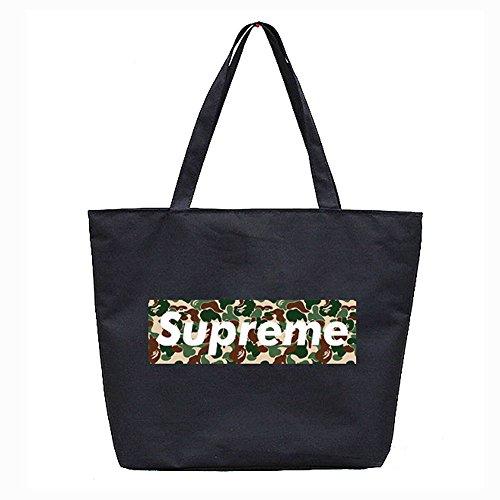 [해외]supreme 캔버스 휴대용 어깨 걸이 핸드백 블랙 가방 로고 가방 위장/supreme canvas tote bag handbag shawl handbag black bag logo bags camouflage