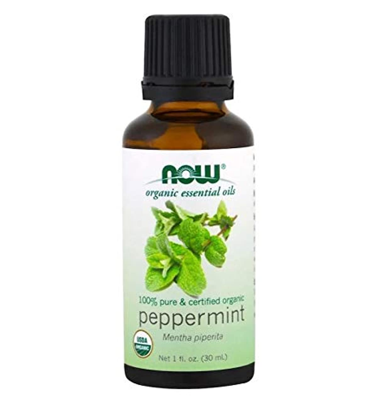 。成長困惑Now Foods Certified Organic Peppermint Oil 1 fl oz [並行輸入品]