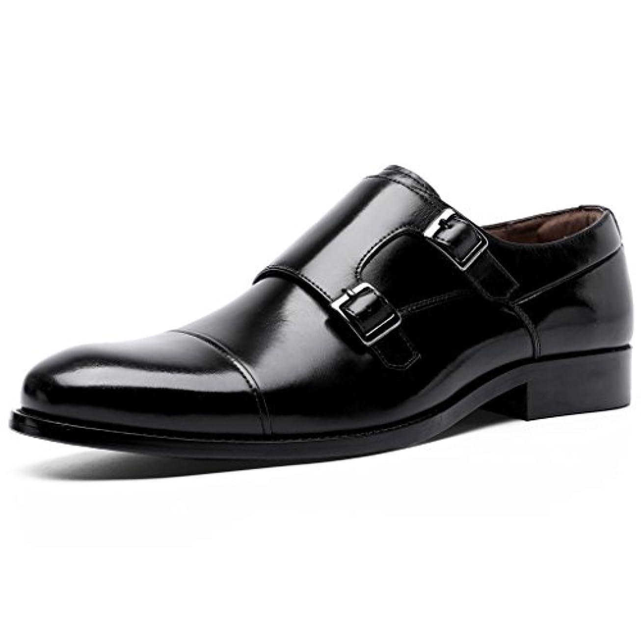 反抗消費者スケッチ[ロムリゲン] Romlegen ビジネスシューズ メンズ 紳士靴 革靴 本革 モンクストラップ