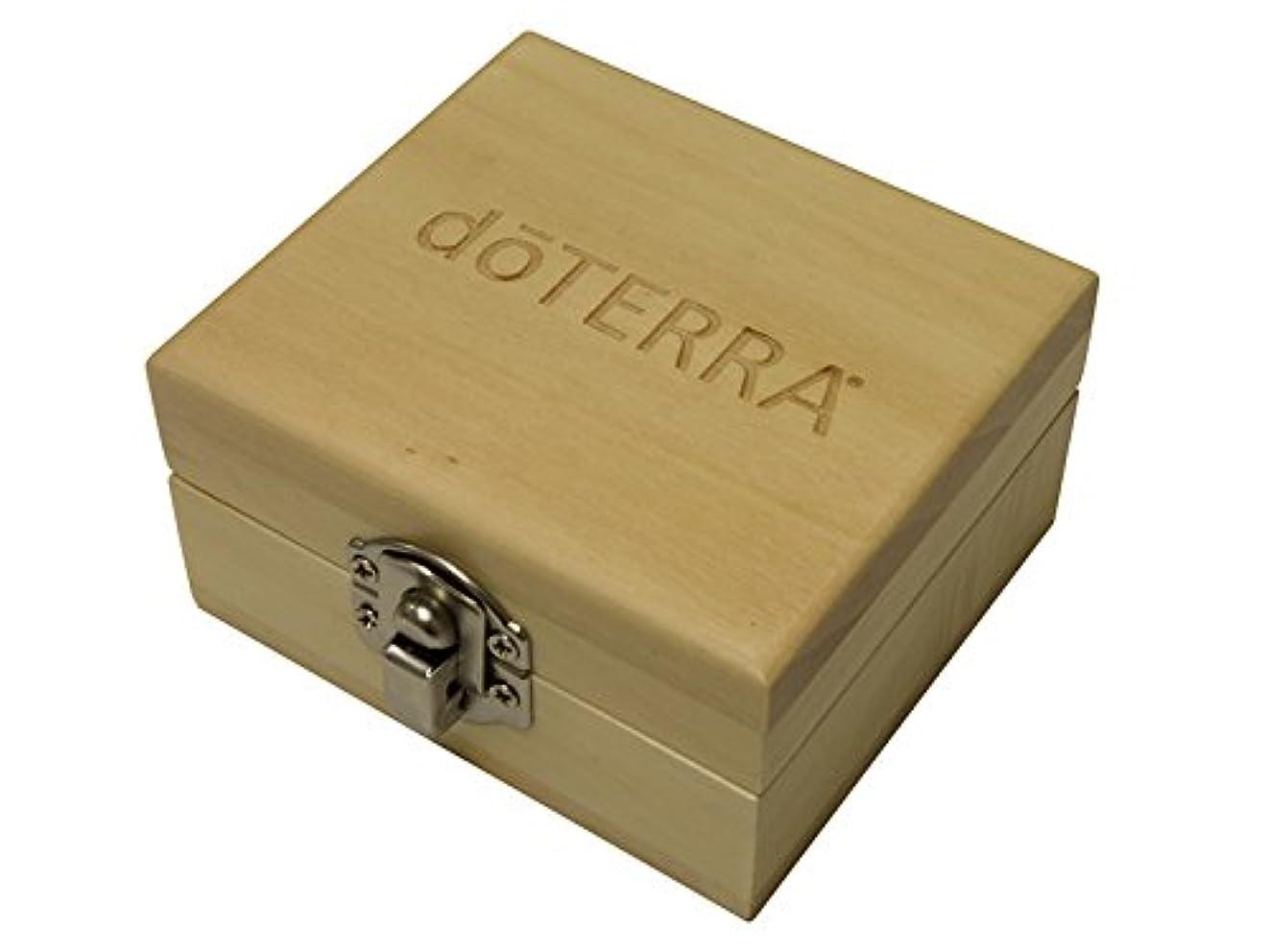 入場料屋内見通し(ドテラ) doTERRA ウッドボックス ライトブラウン ミニサイズ 木箱 エッセンシャルオイル 精油 整理箱