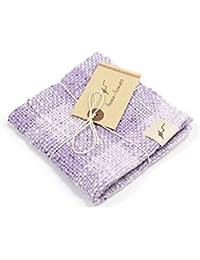kimono cafe(キモノカフェ) fuwa?fuwano ガラ紡タオルハンカチ チェック柄 22cm×22cm 綿100% (9 花紫)