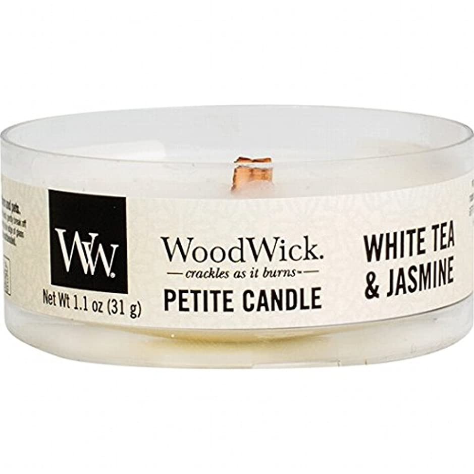 ピクニックをする脆い廃止するWoodWick(ウッドウィック) プチキャンドル 「 ホワイトティー&ジャスミン 」(WW9030548)