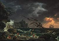 Claude Joseph Vernet ジクレープリント アート紙 アートワーク 画像 ポスター 複製(難破船) #XZZ