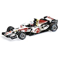 ☆ ミニチャンプス 1/43 ホンダ F1 レーシング RA106 2006 F1 ハンガリーGP #12 J.バトン 初ウィナー ウェザリング塗装