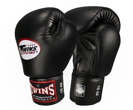 Twins ボクシンググローブ 本革製 16オンス ブラック