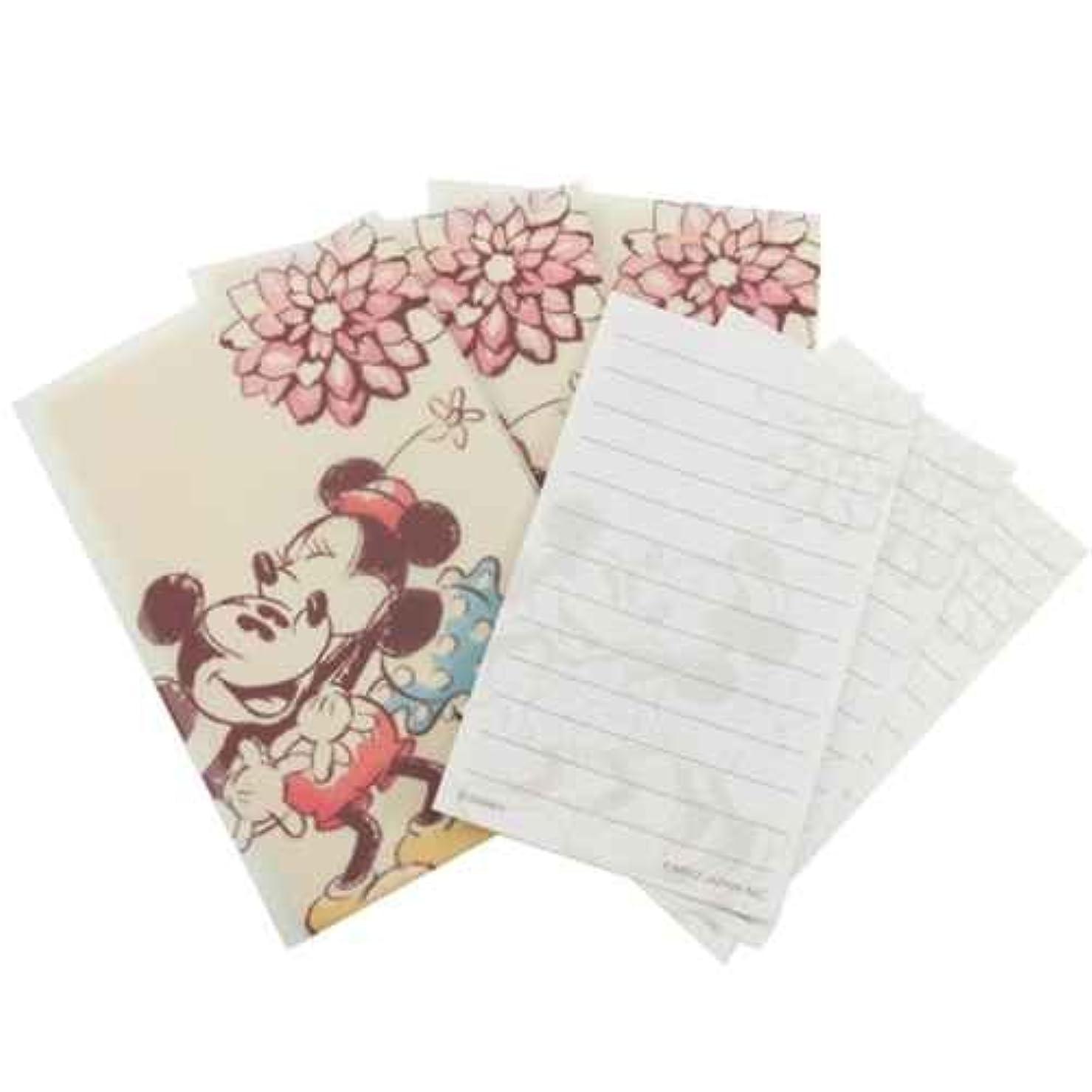 アーク例外クラシックカミオジャパン プチレターセット(ミニ封筒&ミニ便箋) 15779 ミッキー&ミニー