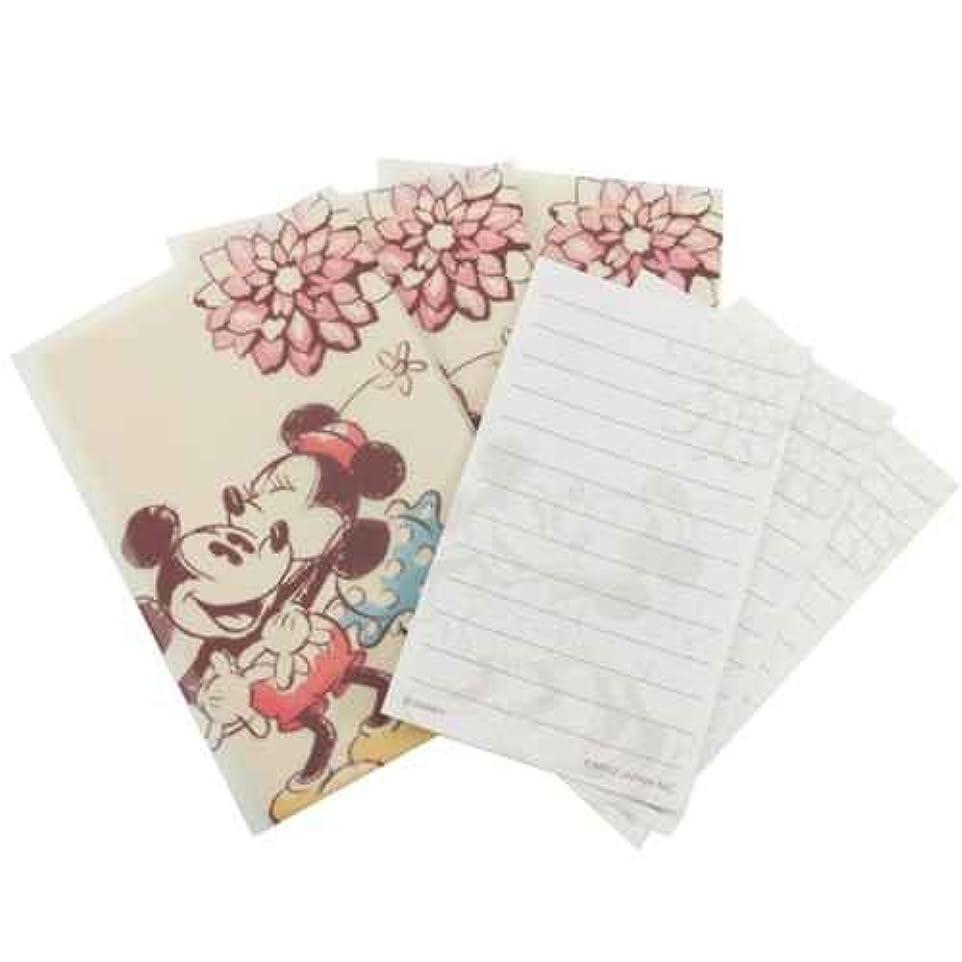 流産氏生息地カミオジャパン プチレターセット(ミニ封筒&ミニ便箋) 15779 ミッキー&ミニー