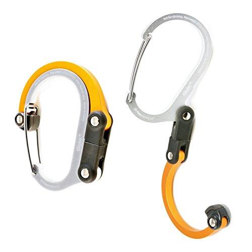 次世代 多機能カラビナ型フック 「Qliplet」(クリプレット) オレンジクラッシュ 【国内正規品】