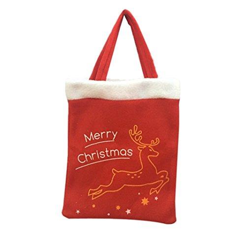 elevin ( TM )クリスマスギフトバッグキャンディバッグMerryクリスマスキャンディバッグクリスマスツリー 52*71cm ブラック Elevin(TM)-GSY60906606
