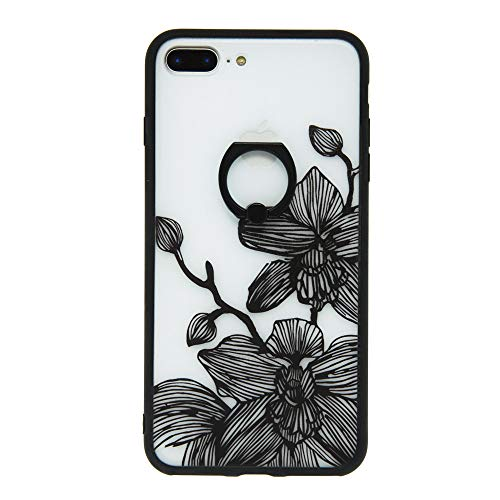 iphone 8 plus ケース リング付き 花柄 胡蝶蘭...