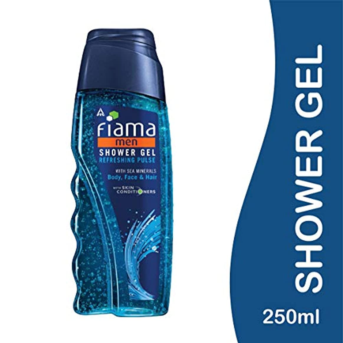 とにかく無駄スポットFiama Men Refreshing Pulse Shower Gel, 250ml