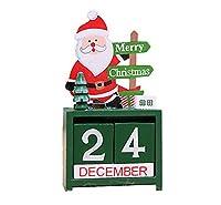(ティーモイス)Timoise クリスマス インテリア カレンダー オーナメント 木製 装飾 雪だるま サンタクロース プレゼント 置物 可愛い エルク 雰囲気 ホーム 子供 (サンタクロース)