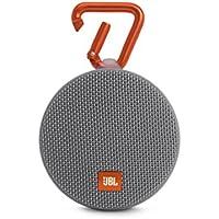 JBL CLIP2 Bluetoothスピーカー IPX7防水/パッシブラジエーター搭載/ポータブル/カラビナ付 グレー JBLCLIP2GRAY 【国内正規品】