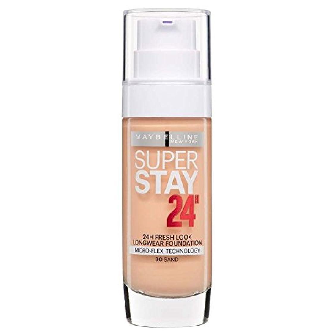 渇き対角線全員2 x Maybelline Superstay 24H Fresh Look Longwear Foundation 30ml - 030 Sand