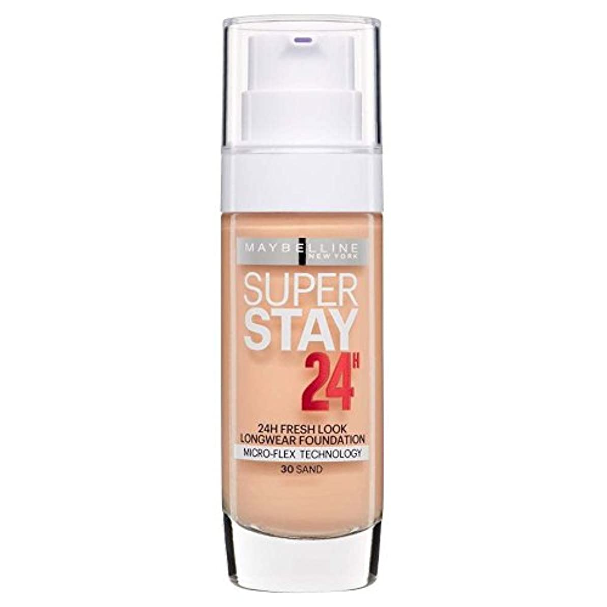 火山学冷蔵する名詞3 x Maybelline Superstay 24H Fresh Look Longwear Foundation 30ml - 030 Sand