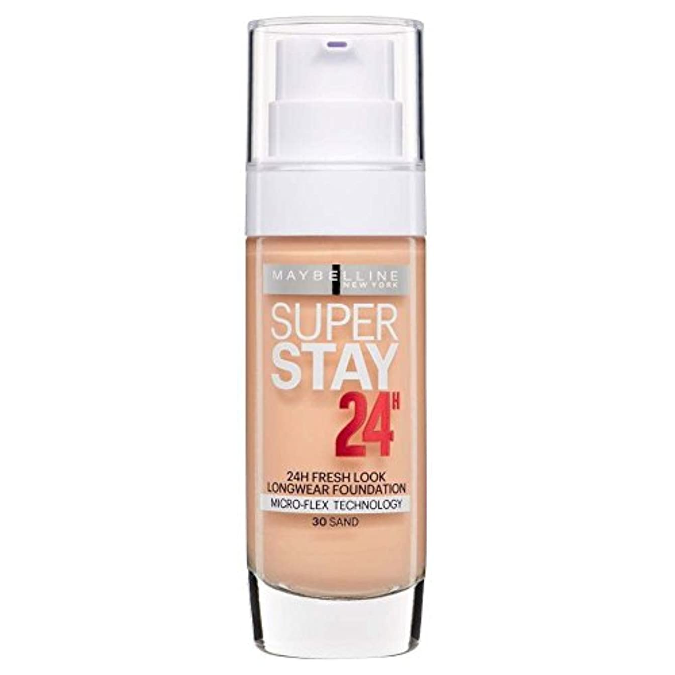 心理学浮くミニ3 x Maybelline Superstay 24H Fresh Look Longwear Foundation 30ml - 030 Sand
