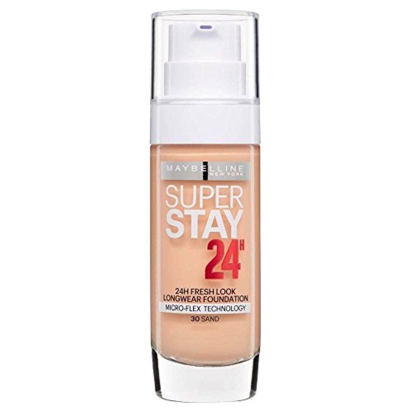 ミキサーブランド名やさしい2 x Maybelline Superstay 24H Fresh Look Longwear Foundation 30ml - 030 Sand
