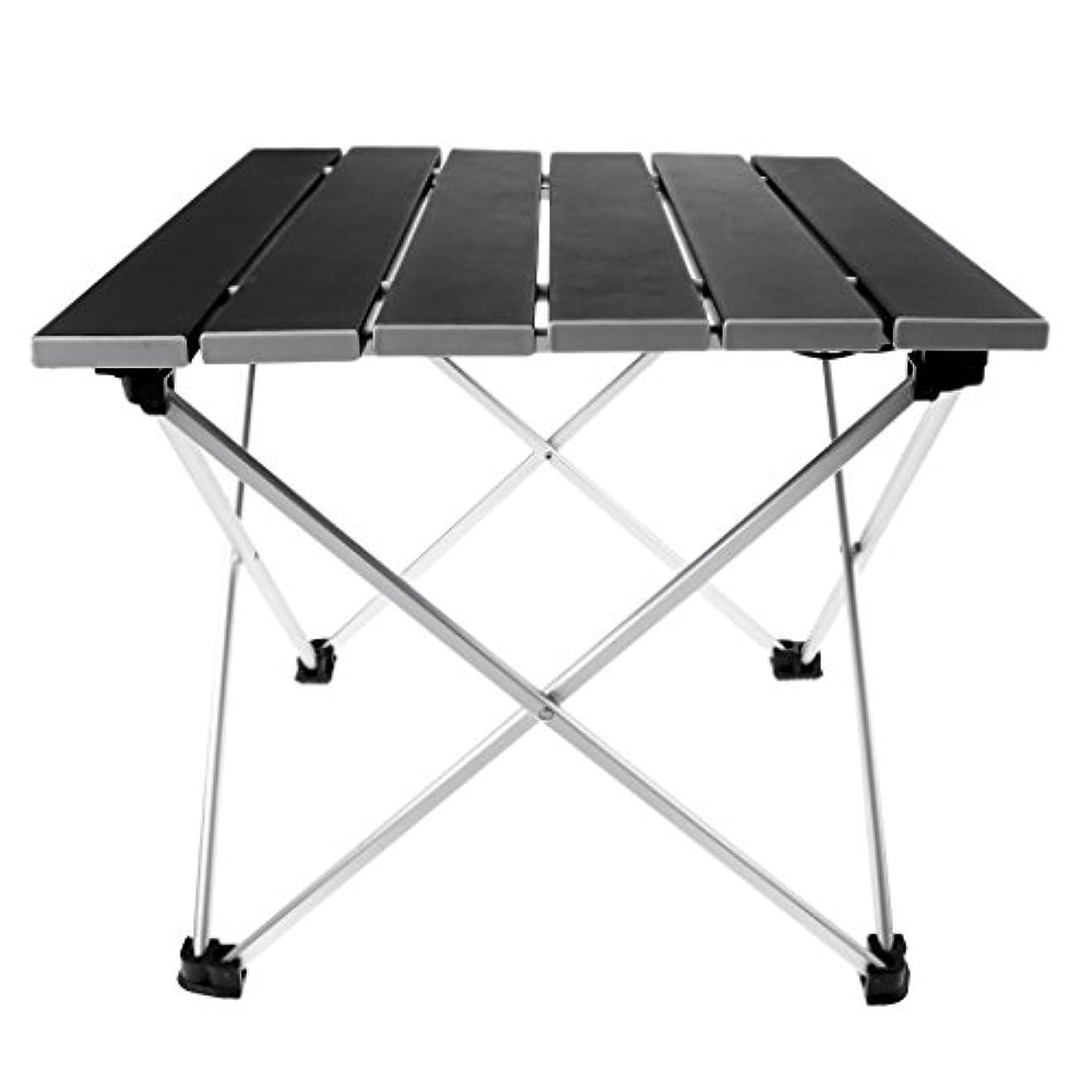 折配送北Baosity アルミ合金 ポータブル 折りたたみテーブル ピクニックデスク アウトドア用