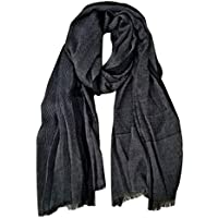 GERINLY Men Scarves Twill Cotton-Linen Long Winter Scarf