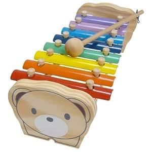 木製 クマさんのてっきん 鉄琴 知育 音のでるおもちゃ リトミック 打楽器 メタル シロホン