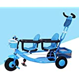 子供の三輪車 4人に1人の子供の三輪車6か月から5年の子供の三輪車の調節可能なハンドル棒愉快にパッドを入れられた座席子供のトライク最大重量50 Kg108 * 50 * 98CM 三輪車 おりたたみ 持ち運び (色 : C, サイズ さいず : 1)
