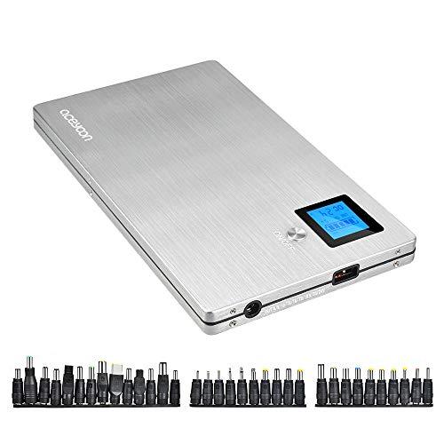 aceyoon ノートパソコン バッテリ 20000mAh 大容量 機内に持ち込み可能 USB QC...