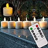 burning sister Battery Operated Led Remote Tea Lights Small Fake Votive Candles with Moving Flame Outdoor Flickering Flameles