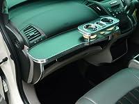 RB3/4オデッセイ フロントテーブル レザーブラック 携帯ホルダー中央 ブラックフルメッキ